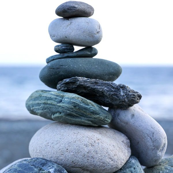 stones symbolizing retreats and wellness